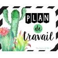 """Plan de travail thème """"Cactus"""""""