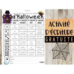 Activité d'écriture d'Halloween