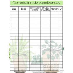 Compilation de suppléances thème plante