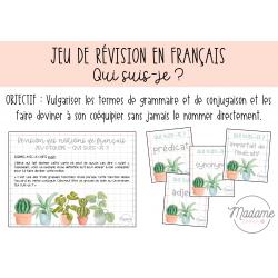 Jeu de révision français - Qui suis-je ?