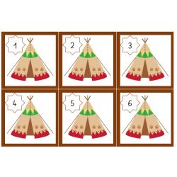Cartes d'association concret abstrait: Amérindiens