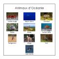 Cartes classifiées: Animaux d'Océanie