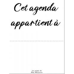 Agenda 2020-2021 NOIR