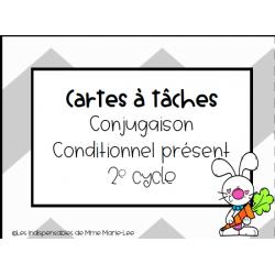 Cartes à tâches - Conjugaison