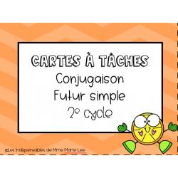 Cartes à tâche - Conjugaison