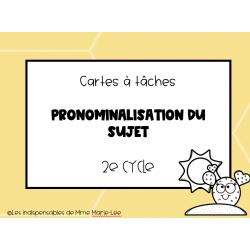 Cartes à tâches - Pronominalisation du sujet