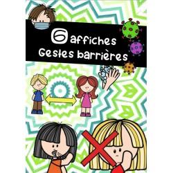 Gestes barrières - 6 affiches - Gratuité