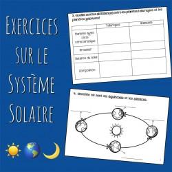 Exercices sur le système solaire