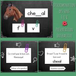 Discrimination des sons F et V