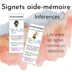 Signets aide-mémoire sur les inférences