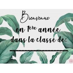 Bienvenue dans la classe...