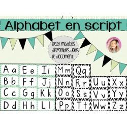 Alphabet en script 1er cycle