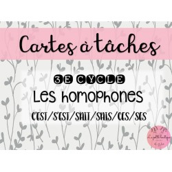 Homophones CES/SES/SAIS/SAIT/C'EST/S'EST
