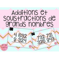 Additions et soustractions de grands nombres