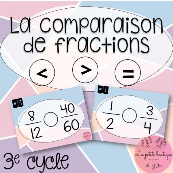 La comparaison de fractions