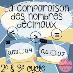 La comparaison des nombres décimaux
