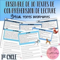 Ensemble 10 textes informatifs 1er cycle