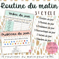 Routine du matin Avril 3e cycle