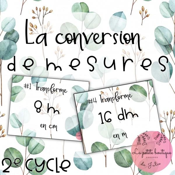 Conversion de mesures 2e cycle
