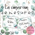 Conversion de mesures 3e cycle