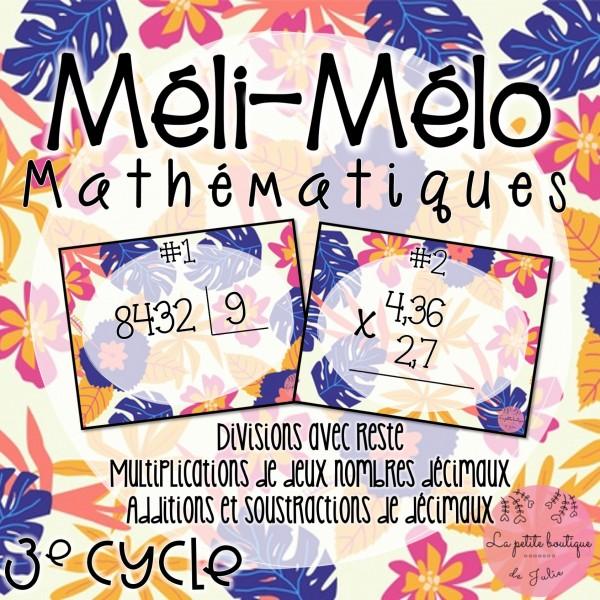 Méli-mélo mathématiques