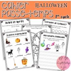 Cahier de passe-temps 1er cycle Halloween