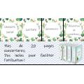Étiquettes pour cartables et pochettes CACTUS