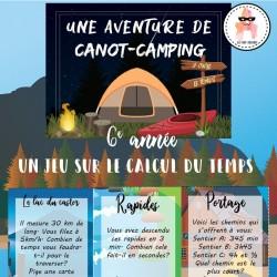 L'aventure de canot-camping - Temps - 6e