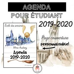 Agenda étudiant - 2019-2020 - École des sorciers