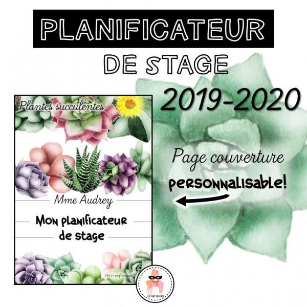 Planificateur de stage - Plantes succulentes