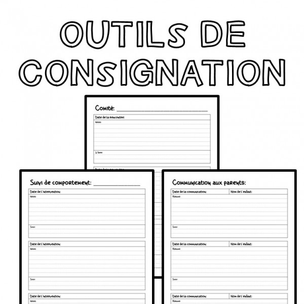 Outils de consignation