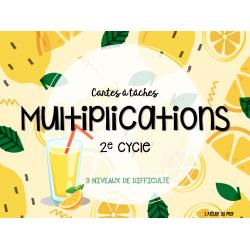 Cartes à tâches: Multiplications