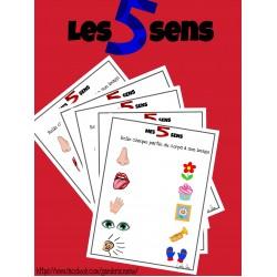Les 5 sens - fiche à relier et affiches