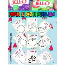 Les 5 sens ~  le goût - peinture  au Jell-O