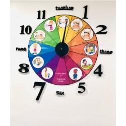 Horloge routine garderie en images