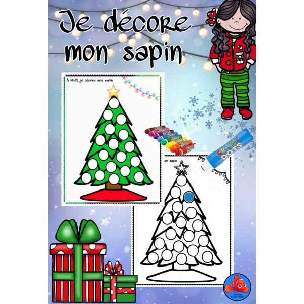 Noël ~ je décore mon sapin ( feutres bingo)