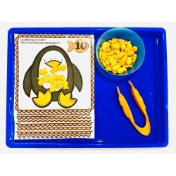 Hiver - pingouin jeu de dénombrement