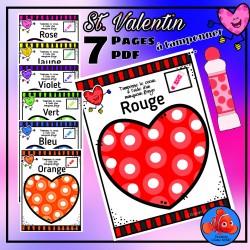Saint Valentin Coeur a tamponner (Marqueur  BINGO)