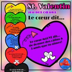 Saint Valentin jeu des cœurs (Le cœur dit...)