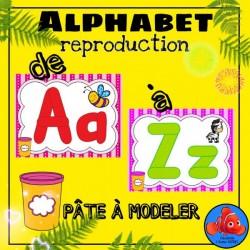 La rentrée - Alphabet en pâte à modeler