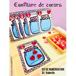 Confiture de cœurs (jeu de numérisation Valentin)
