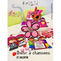 Boîte à chansons d'amour Saint Valentin