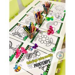PRINTEMPS ~ Coloriage selon modèle