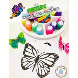 Printemps ~ Peinture papillon en symétrie