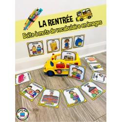 LA RENTRÉE  Boîte à mots de vocabulaire en images