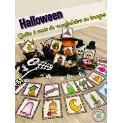 Halloween ~ Boîte à mots de vocabulaire en images