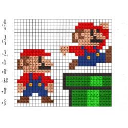 Pixel art avec des lettres