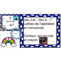 Jeu J'ai...Qui a...? Lettres minuscule avec images