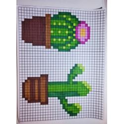 Pixel art cactus et succulentes