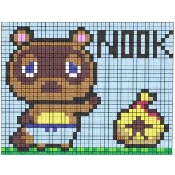 Pixel art personnages jeu de console